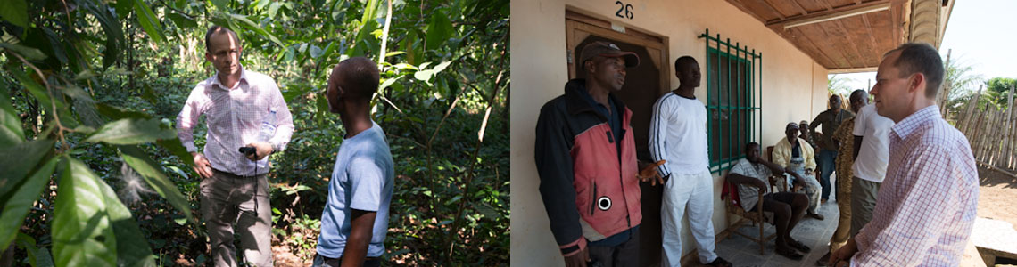 Moringa Fund Manager visiting Balmed cocoa plantations